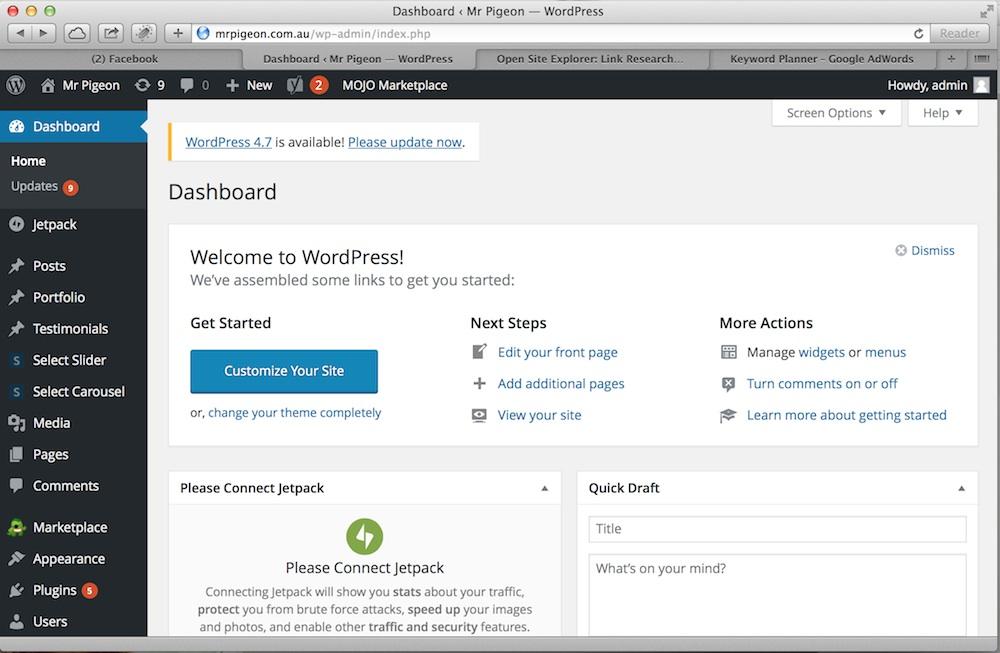 Melbourne wordpress website design